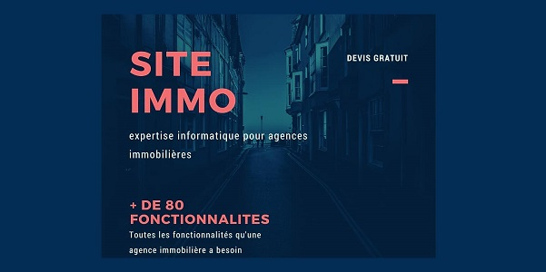 Création de sites web immobilier